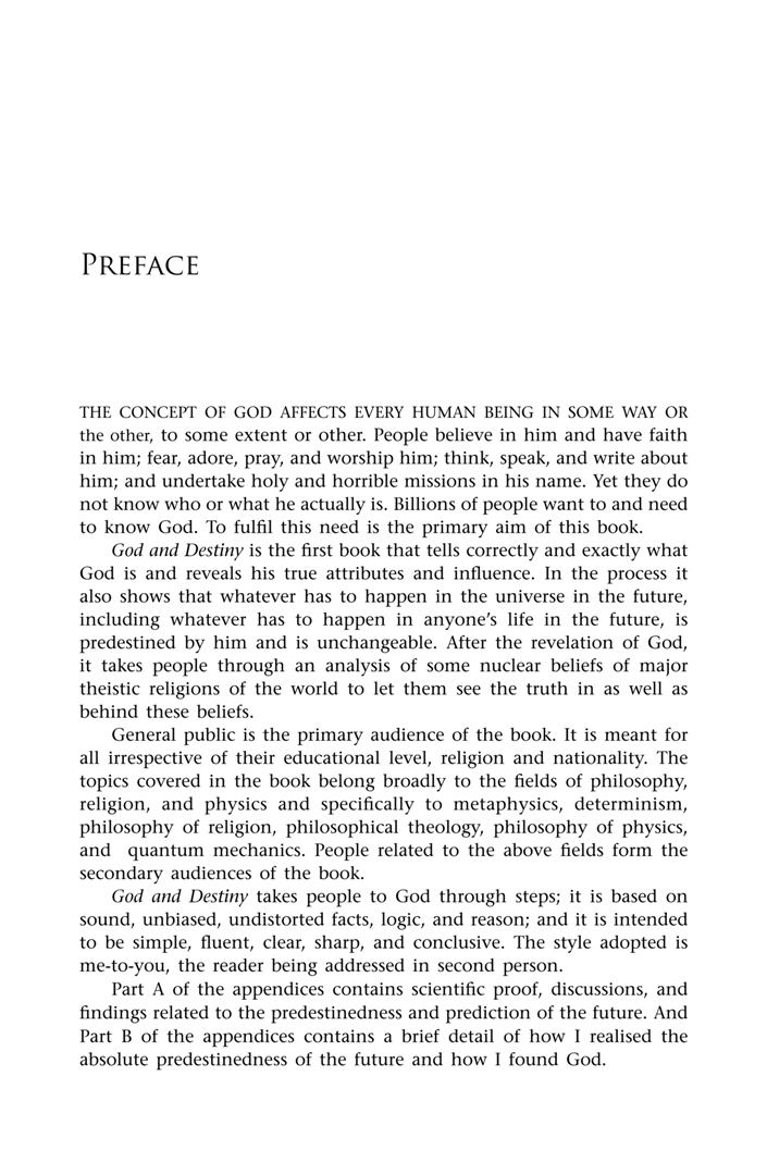 first page < preface < God and Destiny