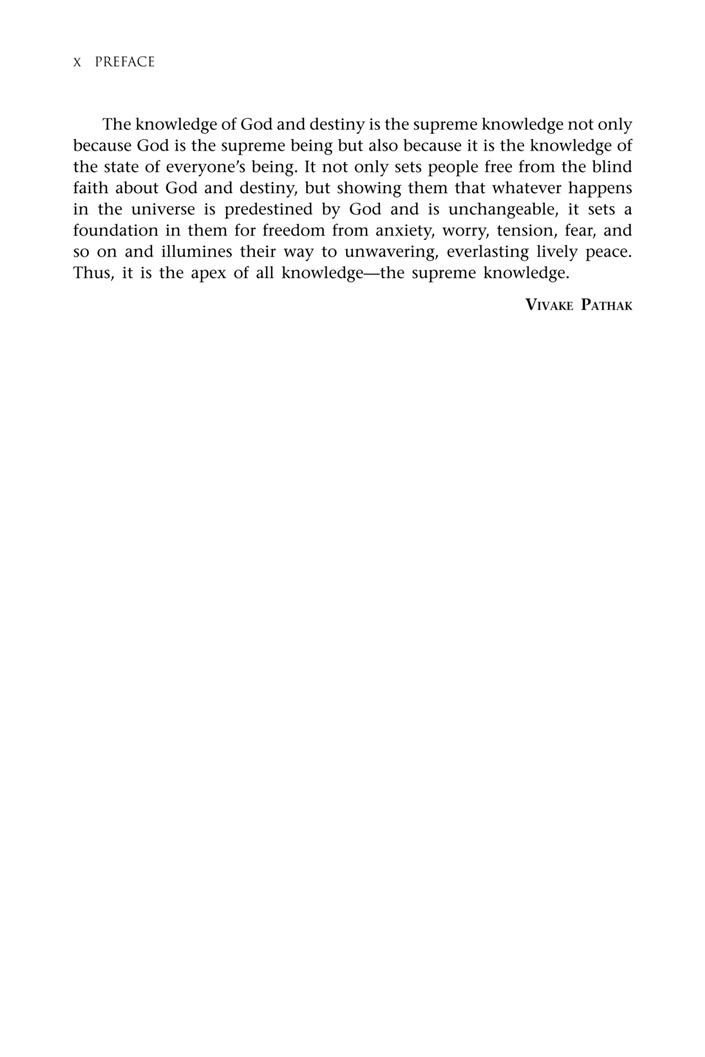 second page < preface < God and Destiny