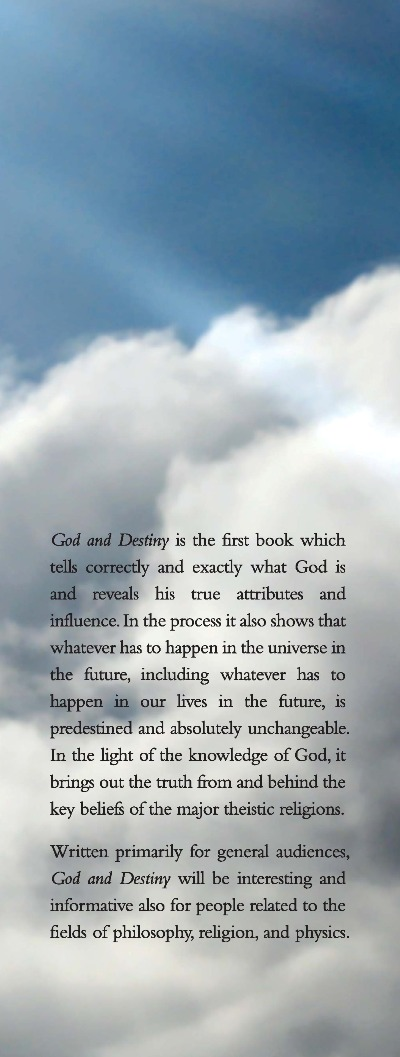 front flap of God and Destiny
