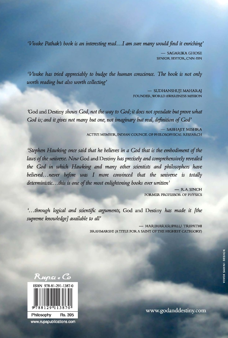 back cover of God and Destiny